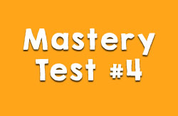 Mastery Test #4